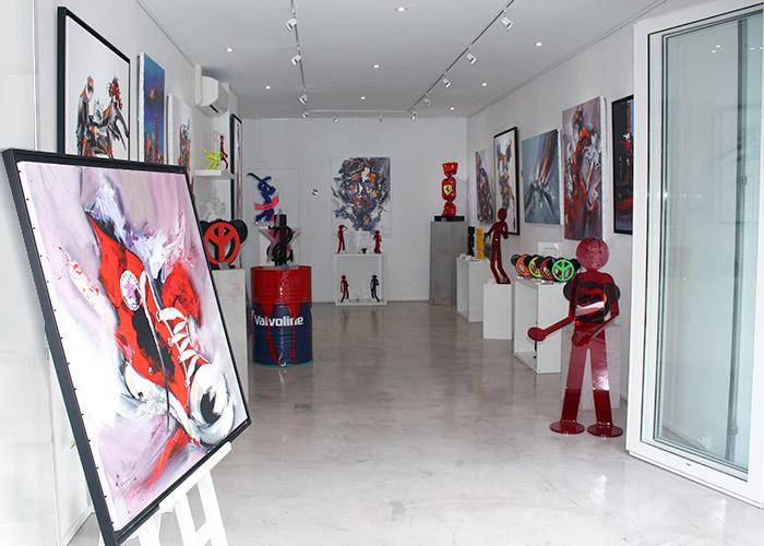 La création de la galerie c'est faite par passion par Michel Poulain,