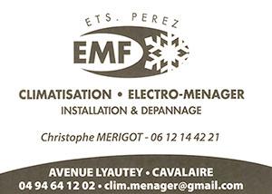 EMF CLIMATISATION ÉLECTROMÉNAGER